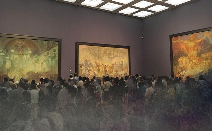 白牡丹母国の名前で出ています/国立新美術館開館10周年 チェコ文化年事業『ミュシャ展』