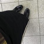 今朝の冬ジャージ着物でいざ行かん/着物着てクラッチバッグだけでおでかけするの久しぶりすぎての巻/斉藤上太郎のジャージ着物はわりかしいいぞ