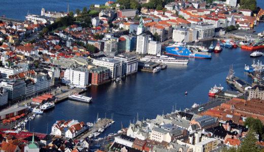 秋の空高しやがて船はゆく/一筆書きで行くノルウェー乗り鉄の旅 その7/超高速ベルゲン観光+スタバンゲルへ