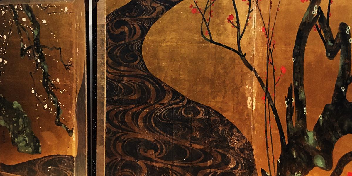 光琳図見むと縫ひゆく庭の梅 駒沢たか子/圧倒的建築!MOA美術館で尾形光琳の紅白梅図屏風を見てきたお話