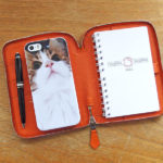 やれごらん手帳カバーの完成形/エルメスのジップアップ手帳カバーはiPhone5 SE を入れるのにぴったりでした。